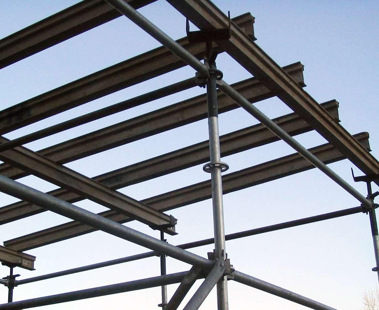 vigas de aluminio con multidireccional encofrados de